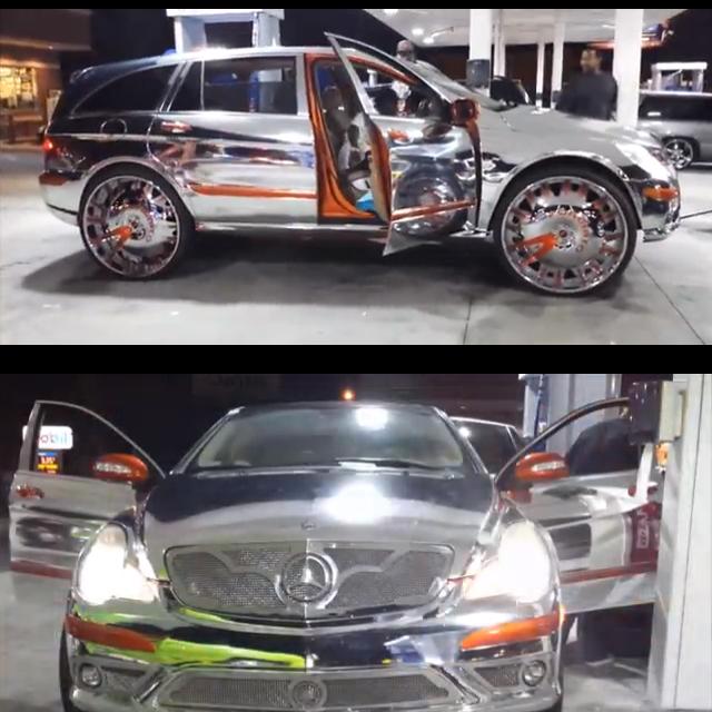 Veja esta Mercedes-Benz Classe R cromado com rodas aro 30